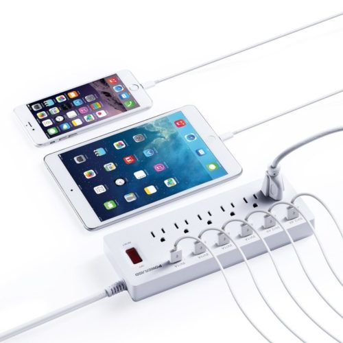10 Cheap Power Strip With Long Cord And USB Outlet Under $30
